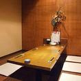 6~7名様用完全個室。接待や会社の上司との飲み会、合コンなどにもご利用いただいております。
