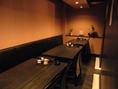 【15名様の宴会席】テーブル席は周囲が気にならないつくり。ゆとりの空間で心地良いひとときを…