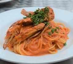 ワタリガニのトマトクリームソーススパゲッティ