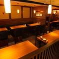 各種ご宴会に◎最大88名様まで収容可能な半個室タイプのお席!宴会におすすめな、飲み放題付きコースも豊富です◎
