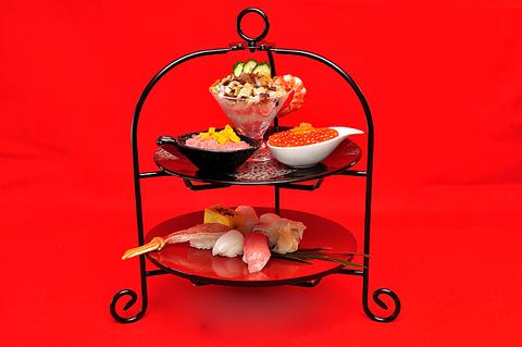 予約制女子会気分で優雅なひと時を!「華あそび」サラダ、お椀、デザート付き 2500円
