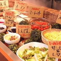 新鮮野菜食べ放題&スイーツ食べ放題♪