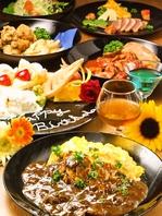 料理&飲み放題付のコースは2700円~(税別)をご用意!