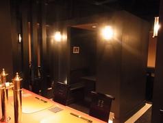 【半個室 4名×3部屋】少人数の宴会に使いやすく人気。落ち着きのある穴場的、隠れ家空間。