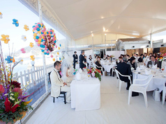 ◆テラス:披露宴◆レストラン ウェディングも承ります。出来る限り、お客様のご要望にお答えし、最高に幸せで楽しい1日になるように、全力でサポートさせていただきます。