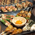 料理メニュー写真おまかせ串焼き5本!(炭火焼鳥、肉巻き串入り)