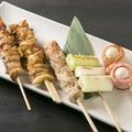 料理メニュー写真焼き鶏盛り合わせ(5種)
