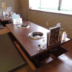 掘りごたつのお席は、小さなお子様連れのお客様からも人気です!安心してお食事をお楽しみいただけます。当店では、辛くない韓国料理をご提供しているのでお子様連れのお客様、ご家族利用、ママ会などでもぜひご来店をお待ちしております。