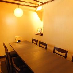 【完全個室】8名様までご利用いただける扉付の完全個室です。他のお席の声はほとんど聞こえません。人気のため、ご予約はお早めにお願いいたします。