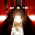 廊下の足元にも小物が♪高田馬場駅周辺の居酒屋をお探しでしたら是非、高田馬場個室居酒屋 柚庵~yuan~ 高田馬場駅前店をご利用ください★