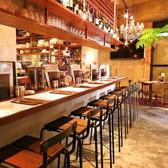 【カウンター席】オープンキッチンなので臨場感がある特等席です。サク飲みやデートにオススメ★