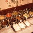 つけダレは【ポン酢・胡麻ダレなど】、薬味もバリエーション豊かにご用意してます。
