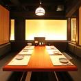 【1階】少人数でのご宴会にオススメです。神田の個室居酒屋なら番屋でご宴会・飲み放題をどうぞ。