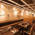 【お席を繋げて最大24名様まで】海鮮居酒屋らしい明るい雰囲気の店内は、会社宴会や飲み会に好評いただいております!