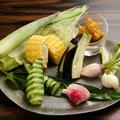 料理メニュー写真旬野菜の力士味噌添え