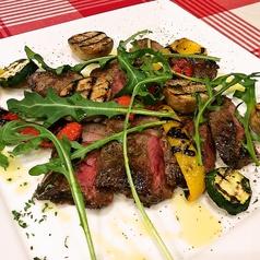 季節野菜のグリル アンガス牛のタリアータ