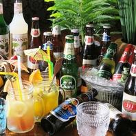 シンハー等人気のアジアビール取り揃えております♪