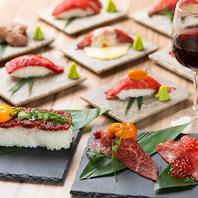 肉寿司も人気♪人気の食べ飲み放題コースもございます!