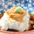 料理メニュー写真【前菜】汲み上げ湯葉 雲丹のせ