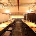大人数様対応の個室やビッフェでもお使いいただけます。着席80名さま、立食120名さま収容