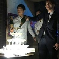 4名様~OKのミニシャンパンタワー登場!!もちろん無料!!