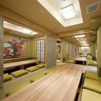 多彩な雰囲気の個室…3名~50名様×9室あり