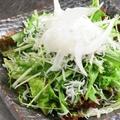 料理メニュー写真水菜とジャコのサラダ
