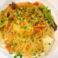 料理メニュー写真スモーク穴子とカラスミのスパゲッティ
