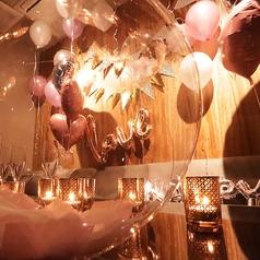【完全個室でラグジュアリーなPrivate Partyを】女子会や誕生日会など、各種パーティーにぴったりな個室ございます。サプライズ演出などもお気軽にご相談下さい♪