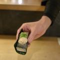 料理メニュー写真鯖寿司ドッグ 海苔サンドスタイル