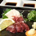 料理メニュー写真【熊本県より】馬刺し三種盛り合わせ