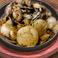 キノコとホタテのバター醤油鉄板焼き