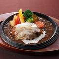 料理メニュー写真オニオングラタン チーズ濃厚ハンバーグ