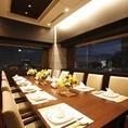 15階レストランに一部屋だけの窓のある個室。ご予約必須です。ご接待や顔合わせにご利用下さい。室料:昼3300円/夜8800円【3名以下の場合は昼5500円/夜11000円】