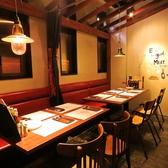 【テーブル席】カーテンで仕切られた半個室の席は周りを気にせずお話できます。照明も少し暗めでデートにも使えます★