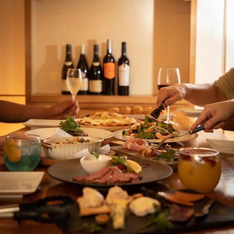ワイン30種類以上!グラスワインも豊富☆もちろんこだわりの料理も豊富に取り揃え☆