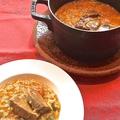 料理メニュー写真牛タンとトマトのメロッソ