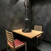 個室テーブルの2名席は、デート使いにもgood!雰囲気抜群です☆