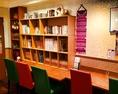 Bookコーナーでは、お一人様、お子様からお母様や、老若男女、日本人、タイ人、多国籍の方が楽しめる様に、色々な、ジャンルの本をご用意しております。