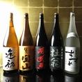 お酒の種類も豊富厳選された焼酎や日本酒を各種ご用意。自慢の料理と一緒に、お愉しみください。