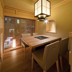 三宮の夜景を眺める特別個室