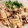料理メニュー写真鶏唐揚げのたれマヨ丼
