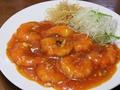 料理メニュー写真エビチリソース/土鍋牛スジ麻婆豆腐