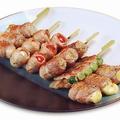 料理メニュー写真アスパラ肉巻き / トマト肉巻き / チーズ肉巻き / うずら肉巻き / もち肉巻き