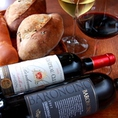 季節、お料理に合ったグラスワインを常に赤、白共に5種類づつご用意しております。