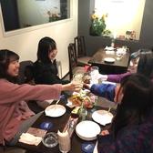 テーブル席は最大8名様迄ご一緒にお食事をお楽しみ頂けます♪