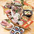 当店自慢の新鮮な海の幸と、旬の食材をふんだんに使用した華やかなお料理が目白押し♪リーズナブルで2次会にもぴったりのコースや、彩りも鮮やかなボリュームたっぷり満点の豪華なコースなど様々なシーンに合わせてお選び頂けます♪