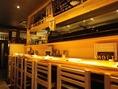 カウンター席がありお一人からサク飲みも◎お酒が随時150種類以上もあります。