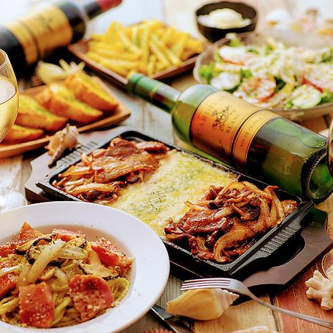 ◆約100種の食べ飲み放題コース2980円~!!大人気リゾート個室で本格お料理を♪