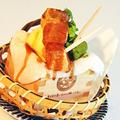料理メニュー写真わらびもちと黒蜜とバニラアイス